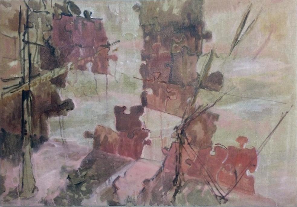 Kunst, art, oliemaleri, oil on canvas